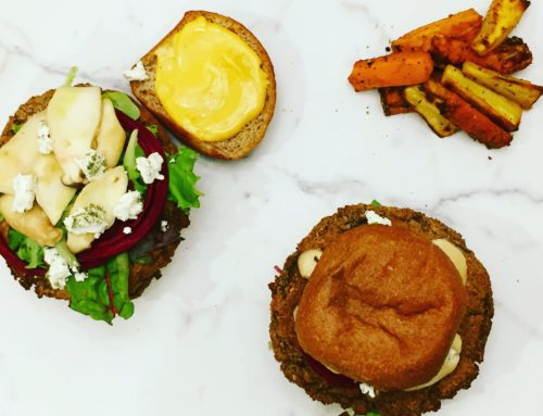 Black Bean Burgers & Veggie Fries